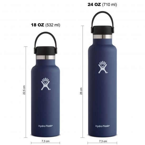 Hydro Flask Standard Mouth Isolierflasche 18 OZ (532ml) / 24 OZ (710ml) cobalt
