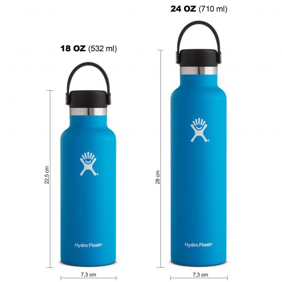 Hydro Flask Standard Mouth Isolierflasche 18 OZ (532ml) / 24 OZ (710ml) pacific