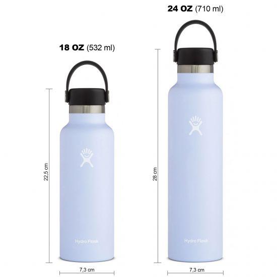 Hydro Flask Standard Mouth Isolierflasche 18 OZ (532ml) / 24 OZ (710ml) fog
