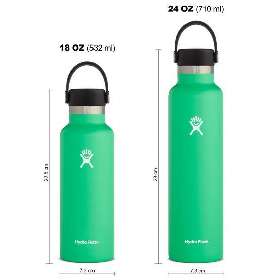 Hydro Flask Standard Mouth Isolierflasche 18 OZ (532ml) / 24 OZ (710ml) spearmint