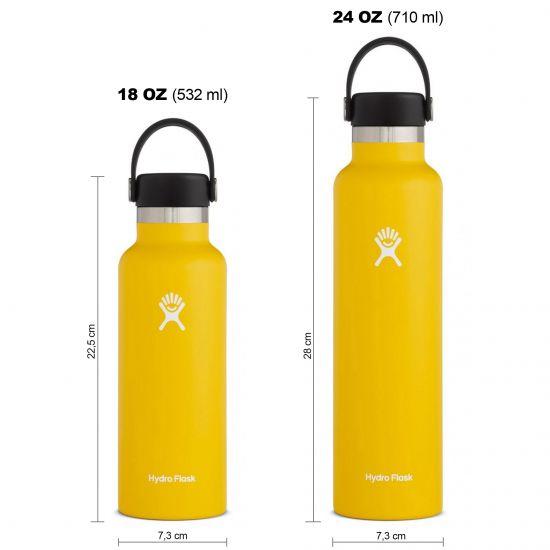 Hydro Flask Standard Mouth Isolierflasche 18 OZ (532ml) / 24 OZ (710ml) sunflower