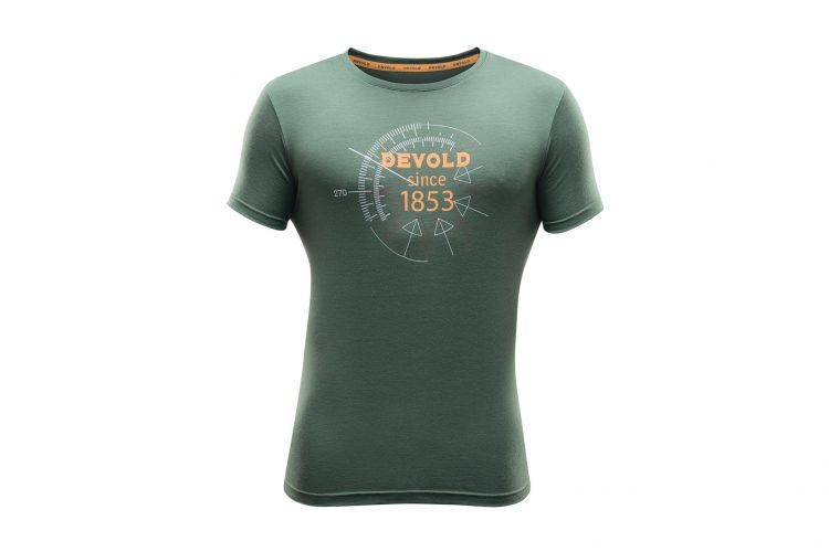 "Devold Lifestyle Man, Modell ""Compass Tee"" Forest"