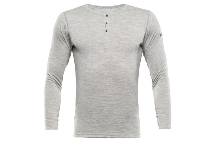 "Devold Breeze Man, Modell ""Button Shirt"" Grey Melange"
