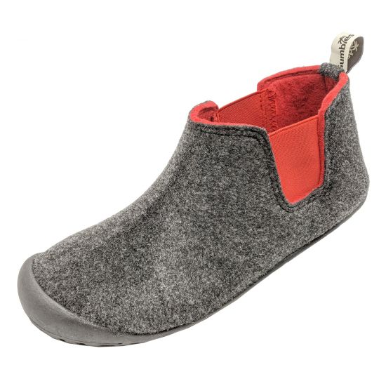 "GUMBIES Hausschuhe ""Brumby"" Charcoal & Red"