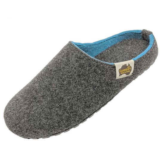"GUMBIES Hausschuhe ""Outback Slipper"" Charcoal & Turquoise"