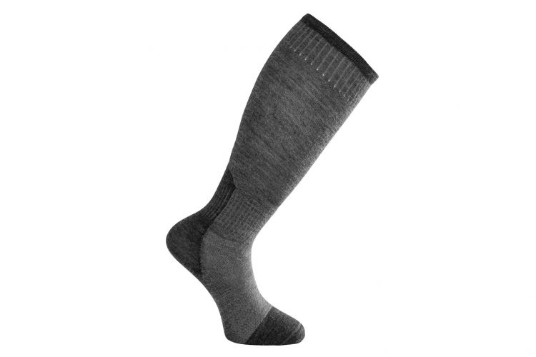 "WOOLPOWER Socke, Modell ""Skilled Liner Knee-high"" Grey"
