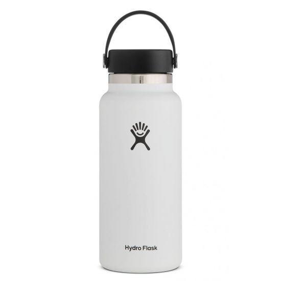 Hydro Flask Wide Mouth Isolierflasche 32 OZ (946ml) white