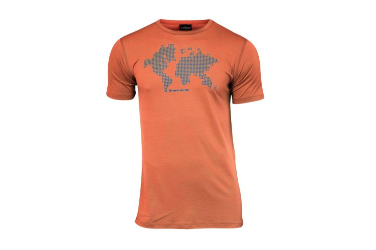 "Herren-T-Shirt von IVANHOE, Modell ""Agaton Earth"" Orange"