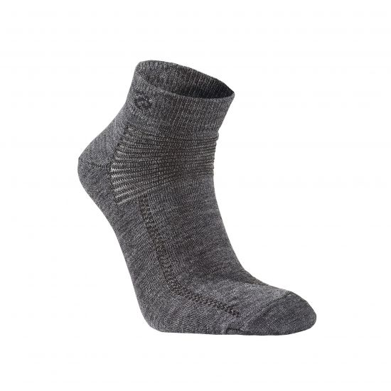 "Wollsocke von IVANHOE, Modell ""Low"" Grey"