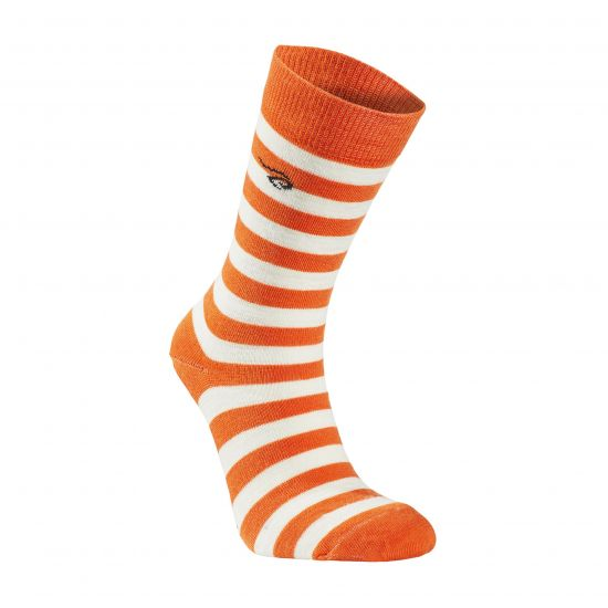 "Wollsocke von IVANHOE, Modell ""Stripe"" Orange"