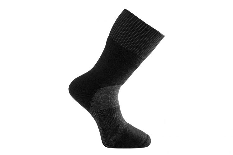 "WOOLPOWER Socke, Modell ""Skilled Classic"" Grey/Black"