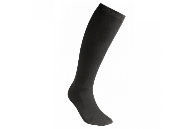 "WOOLPOWER Socke, Modell ""Lite Socks Knee High"" Black"