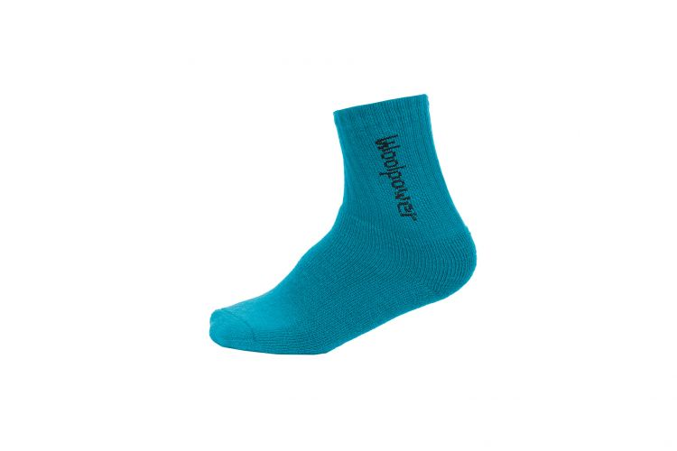 "WOOLPOWER Socke ""Kids Socks Logo 400"" Dolphin Blue"