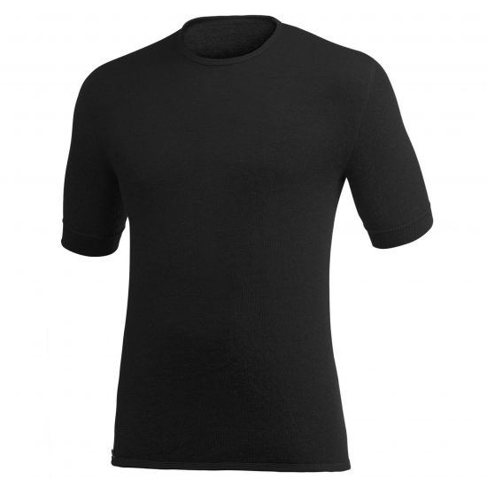 "WOOLPOWER T-Shirt, Modell ""TEE 200"" Black"